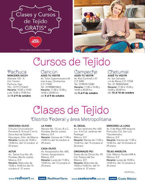 Cursos y Clases de Tejido 2015