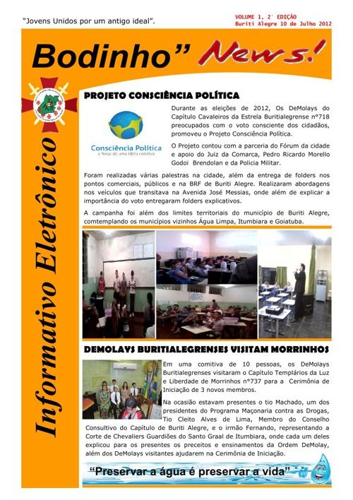 Informativo Eletrônico Bodinho News 2°