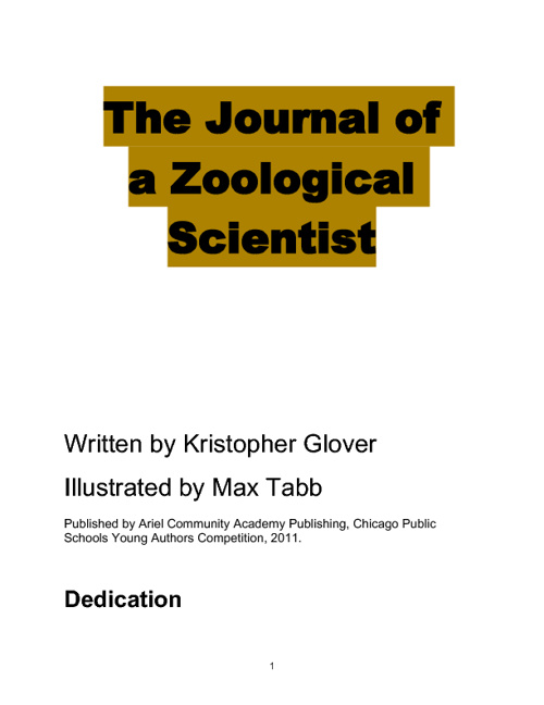 Journal of a Zoological Scientist