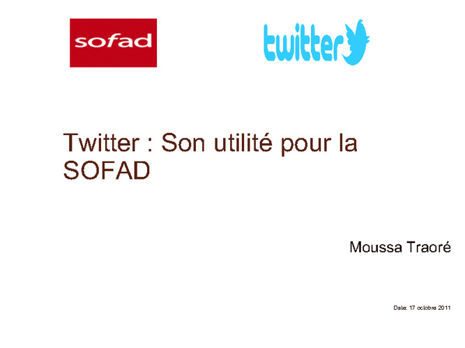 Copy of Présentation Twitter - SOFAD
