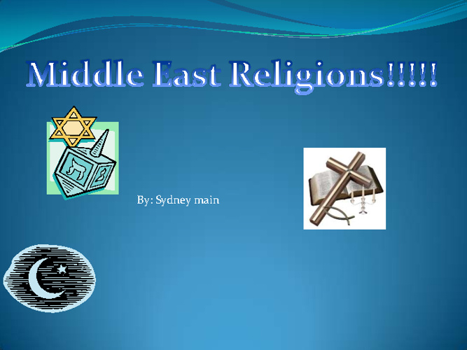 middle east religions compare and contrast sydney main 5