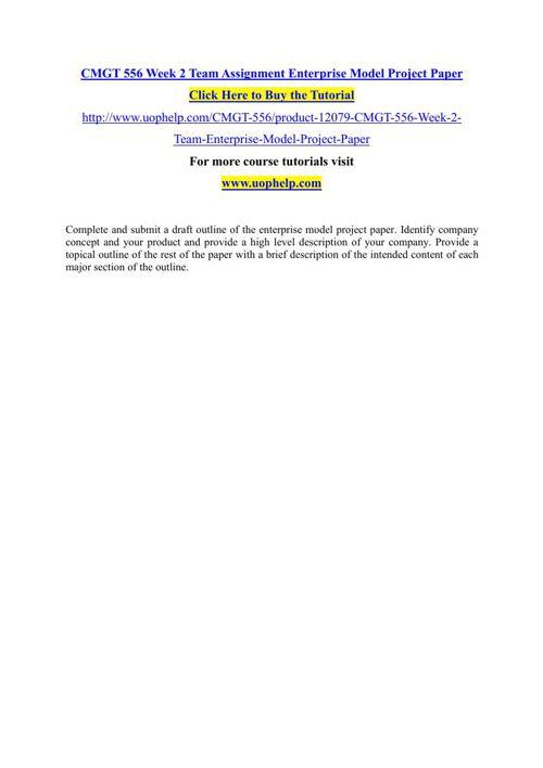 CMGT 556 Academic Achievement/uophelp
