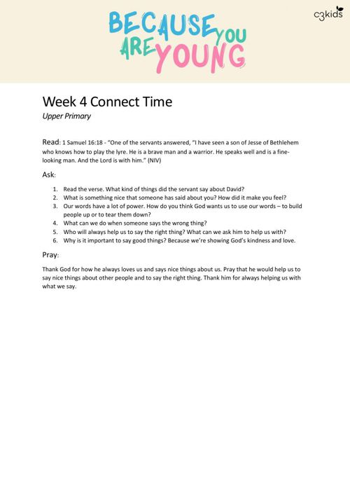 Week 2 Connect Time UP