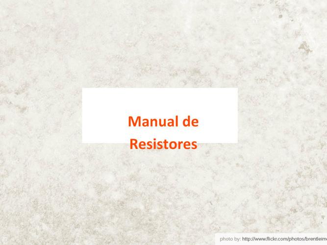 Copy of RESISTORES CLASES