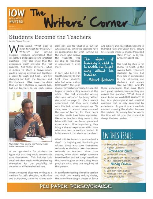 The Writers' Corner Vol. 3 Iss. 2