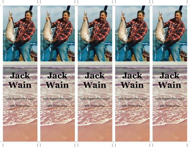 Bookmark for Jack Wain