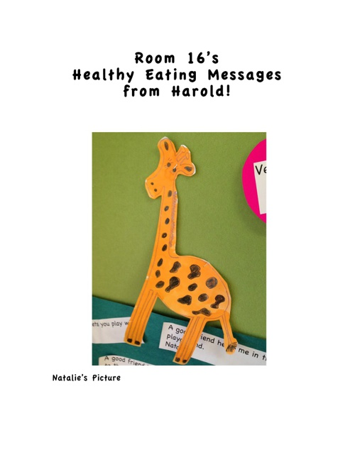 Room 16 Healthy Food Messages