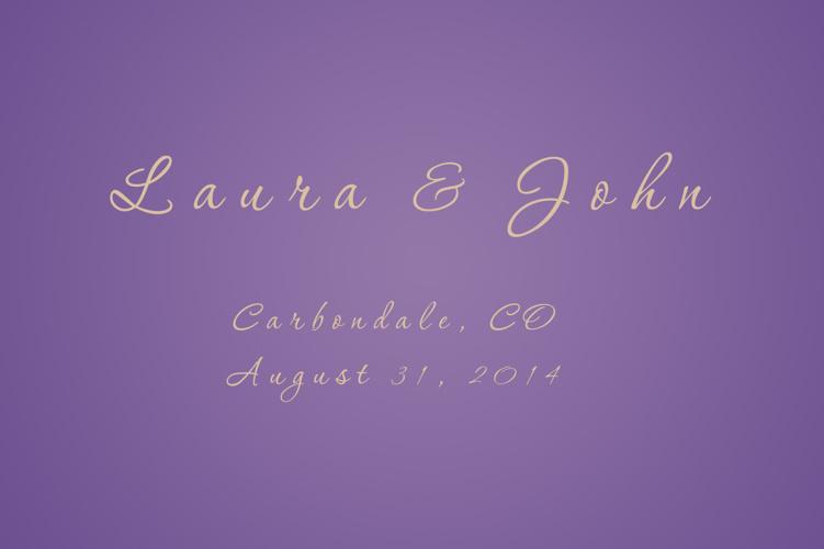 Laura & John 8-31-14