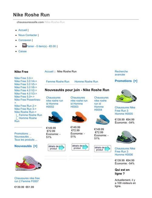 Nike Roshe Run Économie: -56% Désabonnement Chaussures