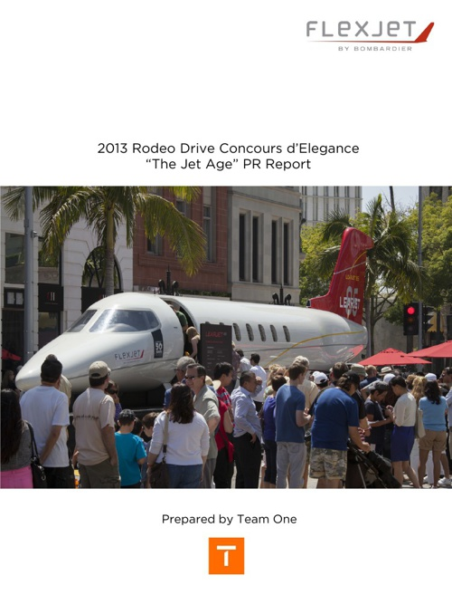 Rodeo Drive Concours d'Elegance The Jet Age PR Report