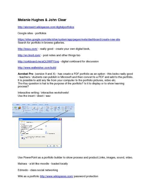 Portfolio info