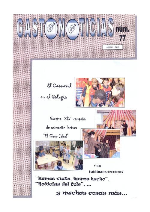 GASTONOTICIAS 77 PRIMERA PARTE
