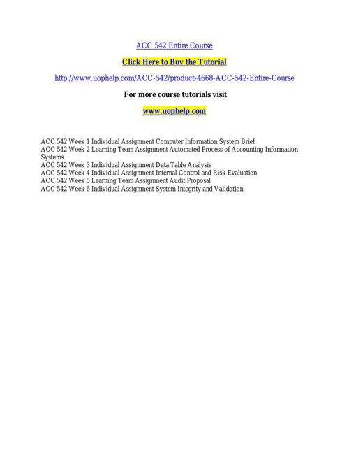 ACC 542ACADEMIC COACH / UOPHELP