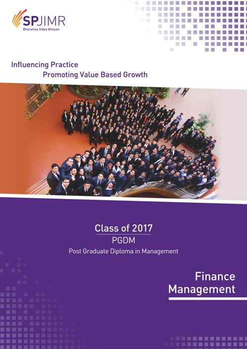 SPJIMR PGDM Finance batch profile 2015-17
