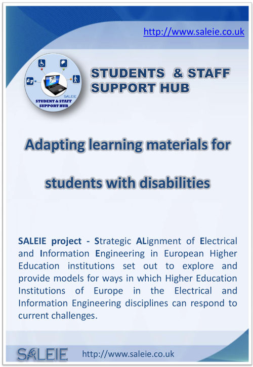 Adapting Teaching Materials for students with disabilities