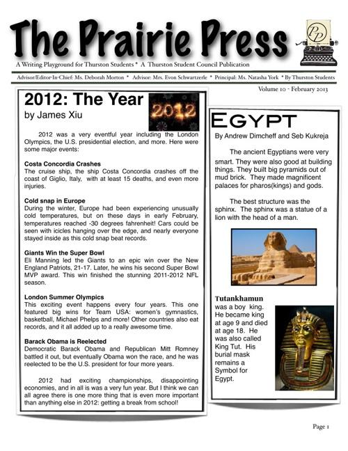 Prairie Press Issue 10
