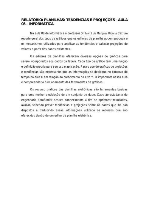 Relatório Aula 08 - Informática