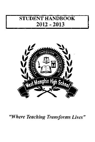 WMHS Student Handbook 2012-2013