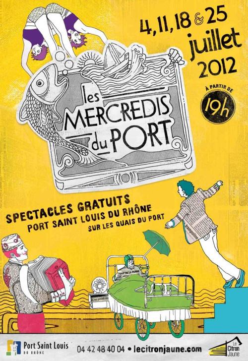 Programme des mercredis du Port à partir du 4 juillet 2012 à Por