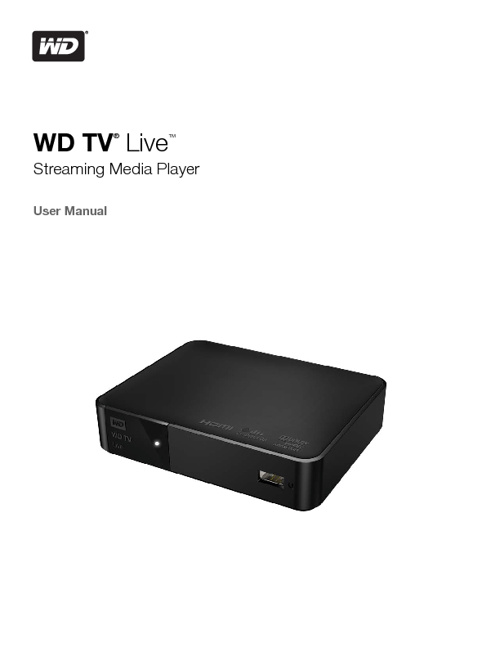 Manual WD TV Live Streaming Media Player