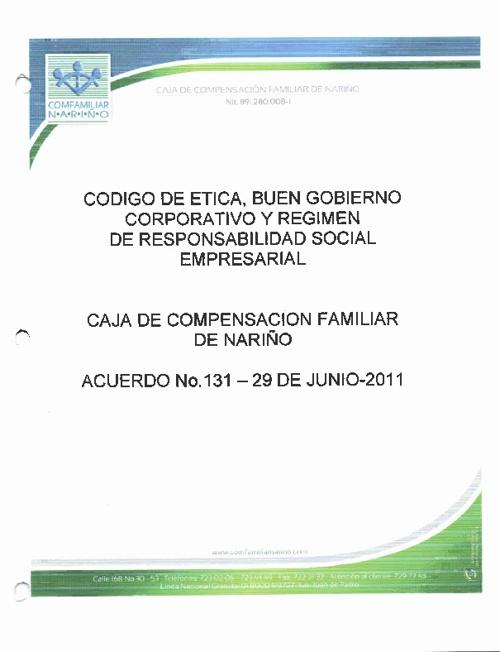 CODIGO DE ETICA  Y BUEN  GOBIERNO