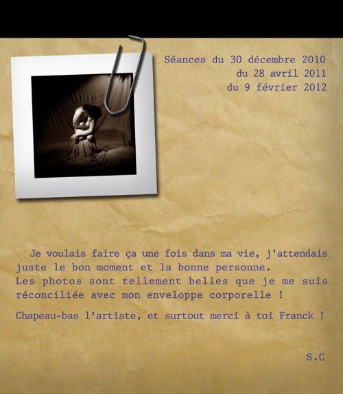 LIVRE D'OR Sandrine