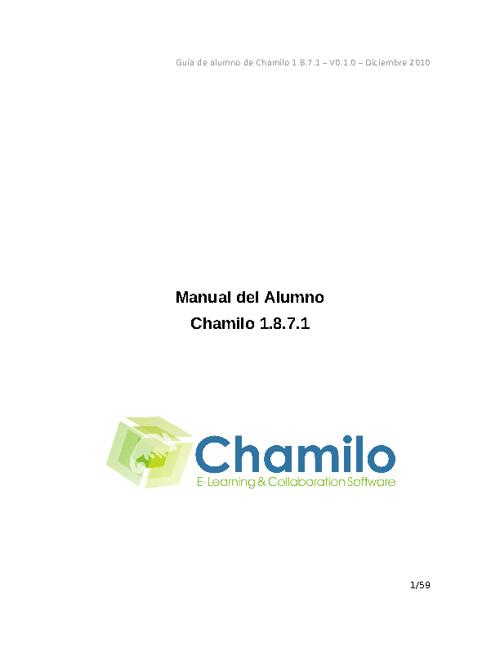 Manual del Estudiante - Chamilo
