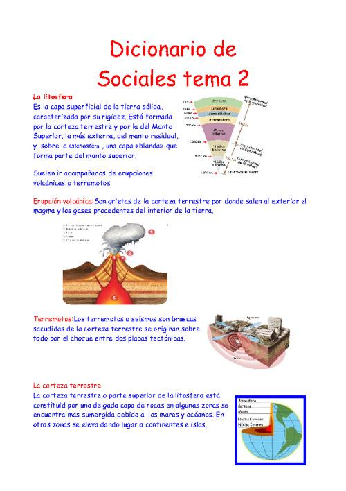 Diccionario de sociales tema 2