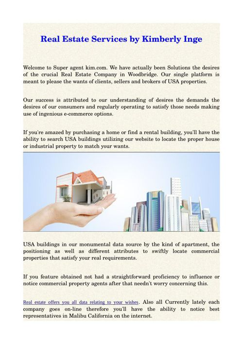 Real Estate Services by Kimberly Inge