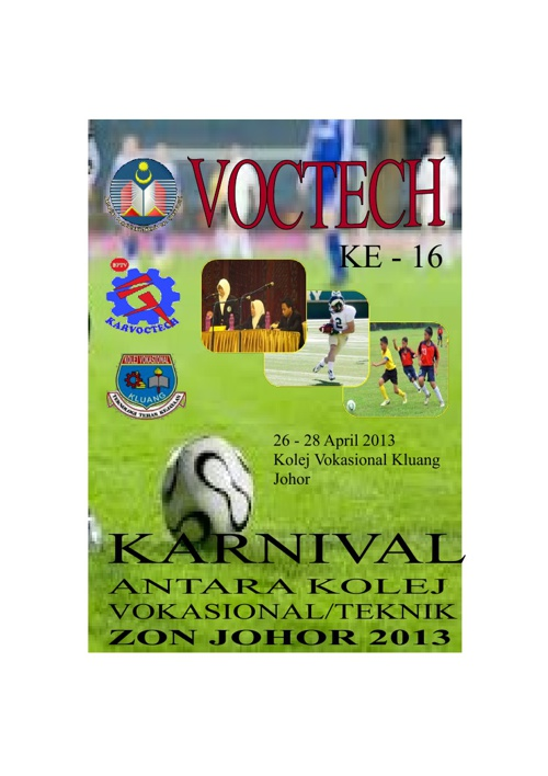 Buku Program Karvoctech Zon Johor 2013