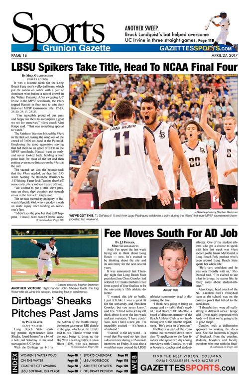 Gazette Sports  |  April 27, 2017
