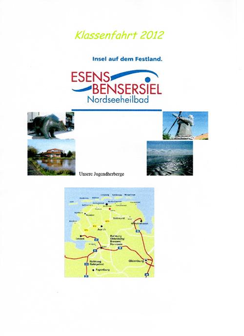 Klassenfahrtzeitung Klasse 6f - 20.-24.August 2012