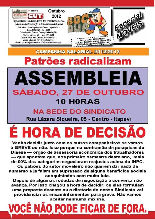 Assembléia Outubro de 2012 - Móveis