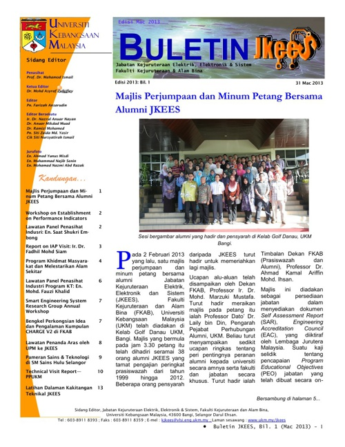 Buletin JKEES Edisi Mac2013