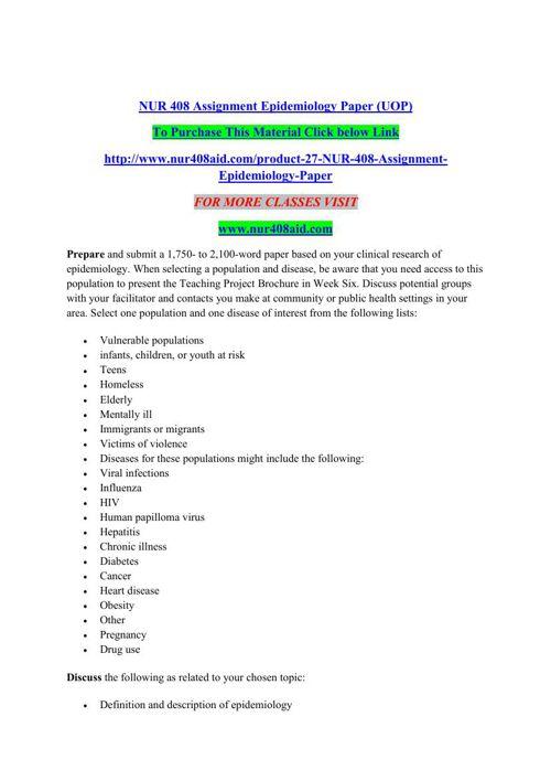 NUR 408 AID Quest For Excellence/nur408aiddotcom