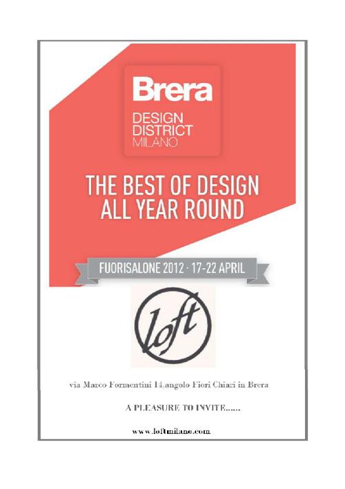 THE BEST OF DESIGN ALL YEAR ROUND 2012 Brera District@LOFT