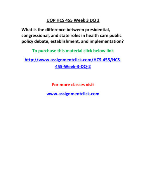 UOP HCS 455 Week 3 DQ 2