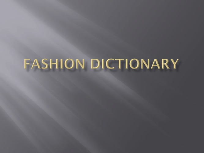 Fashion Vocab 2.06