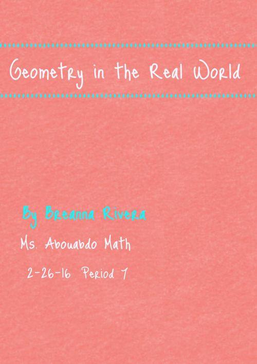 Breanna's  Geometry Vocabulary