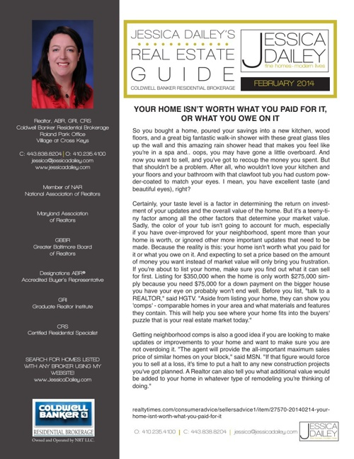 February 2014- Jessica Dailey's Online Newsletter