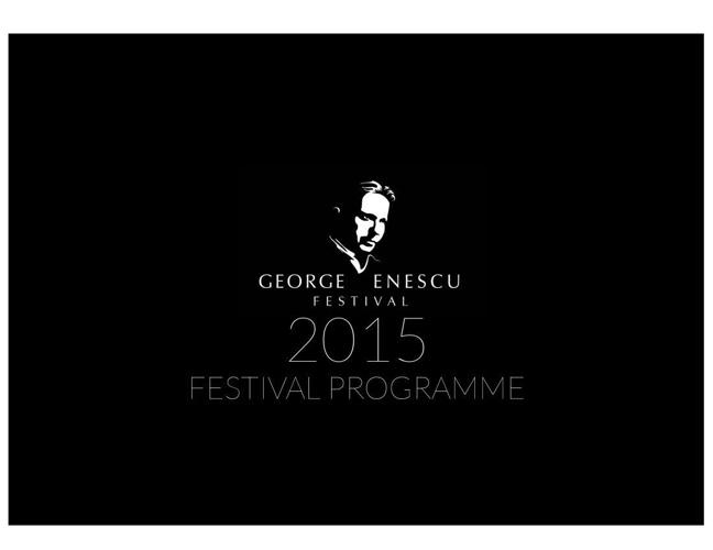 George Enescu Festival Programme 2015
