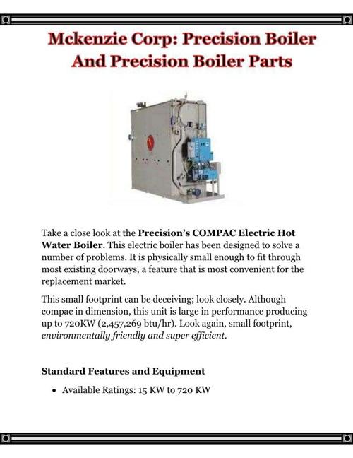Mckenzie Corp - Precision Boiler And Precision Boiler Parts