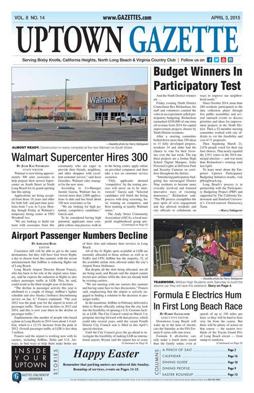 Uptown Gazette  |  April 3, 2015