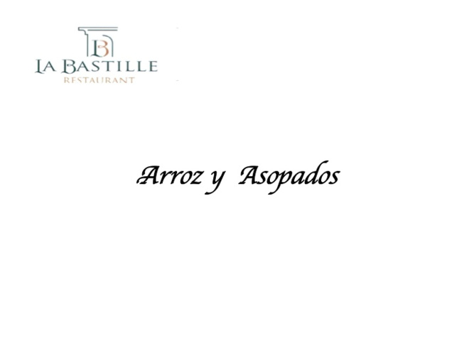CATALOGO ARROZ Y ASOPADOS