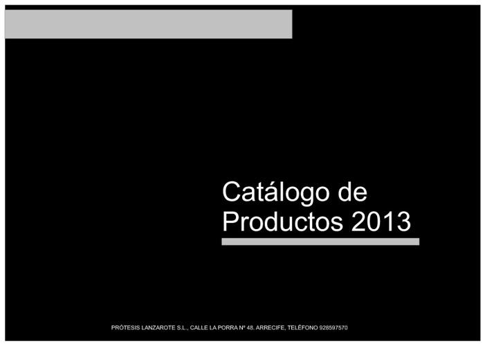 Protesis Lanzarote Lista de precios 2013