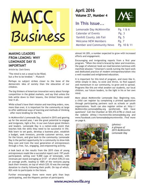 MACC In Business April 2016