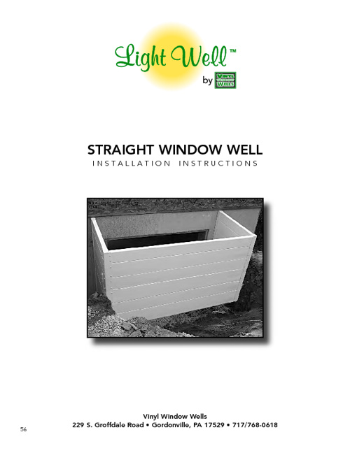 Straight Window Well Installation