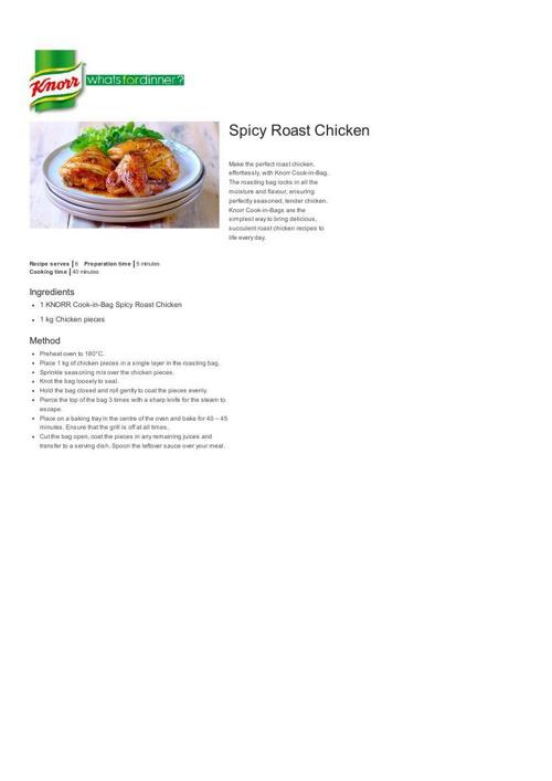 Spicy Roast Chicken Recipe