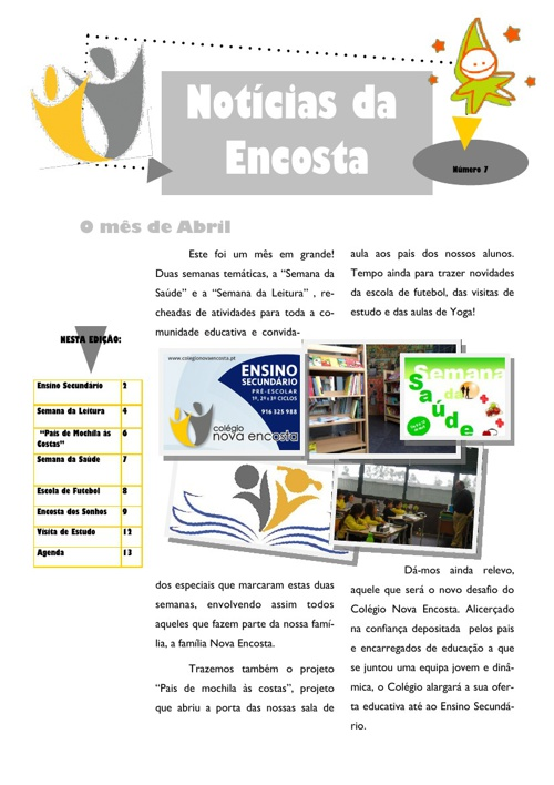 Newsletter Nº7 - Abril de 2013