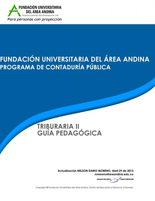 Tributaria II - Nelson Dario Moreno - 2013